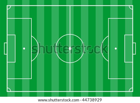 Top view of a soccer field. - stock vector