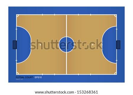 Top view of futsal court - Vector illustration - stock vector