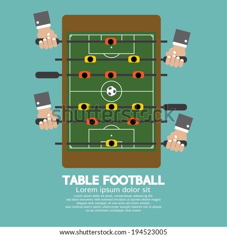Top View of Table Football Vector Illustration - stock vector