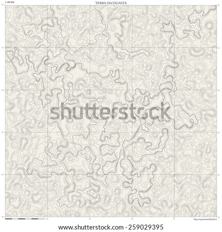 Topographic map. Monochrome linear vector background. - stock vector