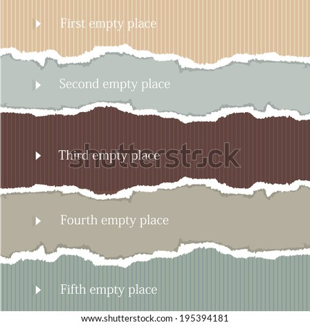 torn background paper - stock vector