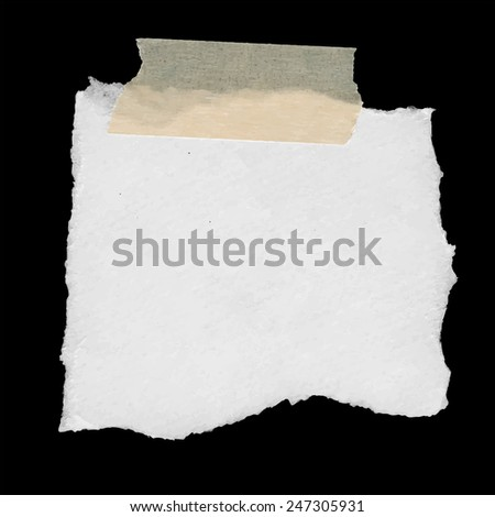 Torn note paper - stock vector
