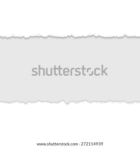 torn open paper with space for text - stock vector