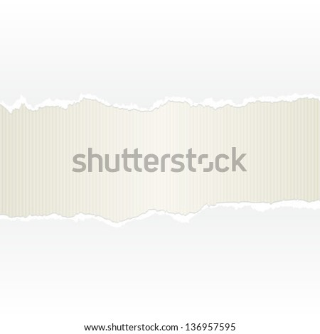 torn paper background - stock vector