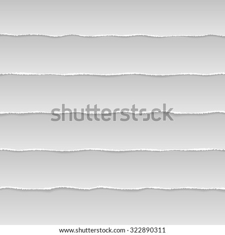 Torn paper background. Vector - stock vector