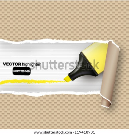 torn paper background.Vector design. - stock vector