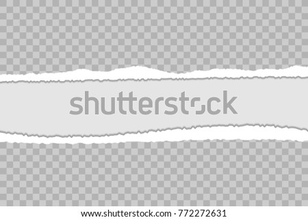 Torn Paper Background Ripped Edges Shadow Stock Vector HD (Royalty ...