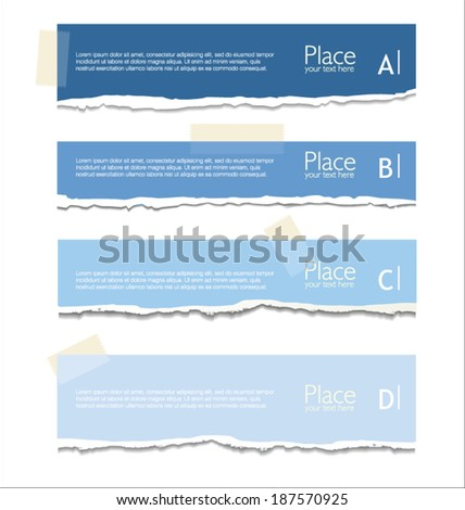 Torn paper background with space for text - stock vector