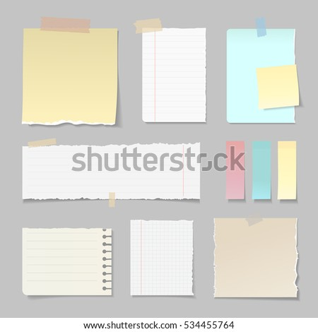 Torn Paper Banners Lined Clear Vertical Vector 534455764 – Vertical Lined Paper