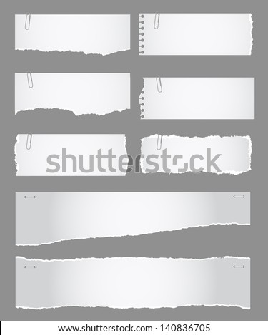 Torn Paper Collection - stock vector