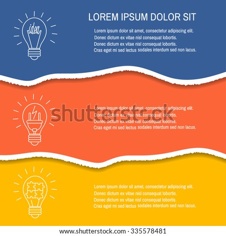 Torn paper  in trendy colour. Vector illustration. Design elements -  colored paper with ripped edges. - stock vector