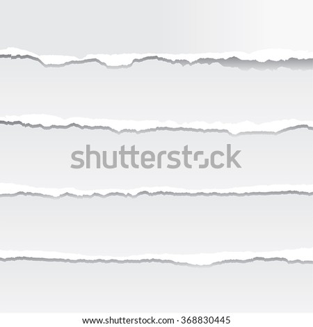 Torn Paper in Vector Format. Color can be changed by one click - stock vector