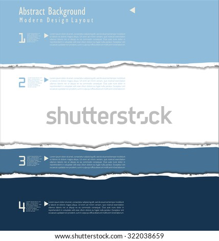 torn paper vector - stock vector