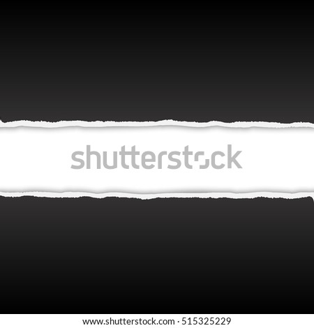 Torn paper vector background with space for text