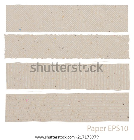 torn paper vector, layered  - stock vector