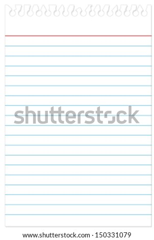 Torn reporters notebook paper