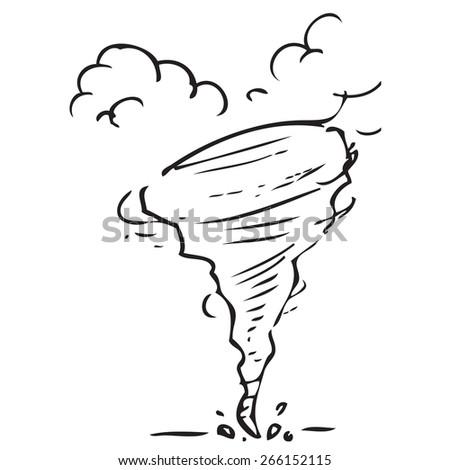 Tornado Doodle - stock vector
