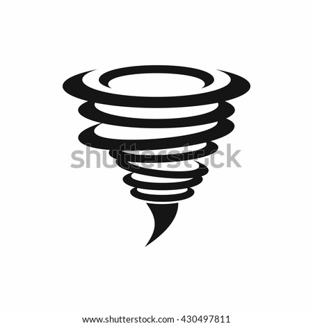 Tornado icon. Tornado storm icon isolated on white background. Typhoon vector illustration