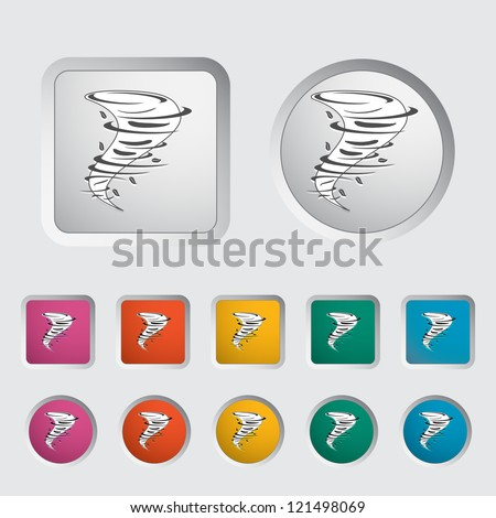 Tornado icon. Vector illustration. - stock vector