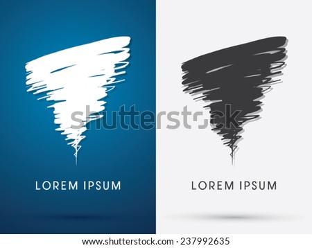 Tornado Storm, hurricane, whirlwind, brush,abstract  logo, symbol, icon, graphic, vector . - stock vector