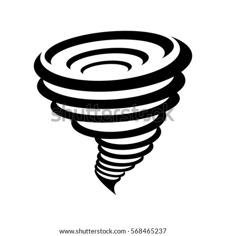 Twister Tornado Clip Art Tornado Symbol Isolate...