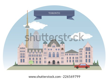 Toronto. City in Canada and the provincial capital of Ontario - stock vector