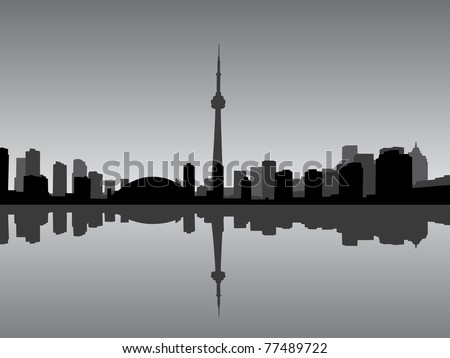Toronto city vector coastline
