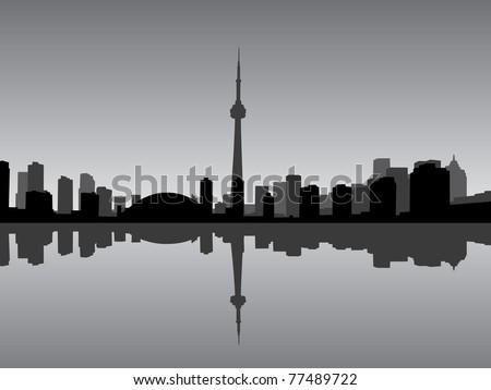 Toronto city vector coastline - stock vector