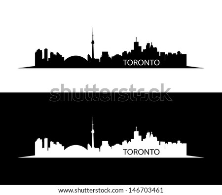 Toronto skyline - vector illustration - stock vector