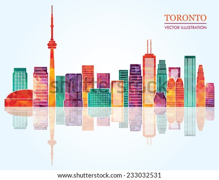 Toronto skyline. Vector illustration - stock vector