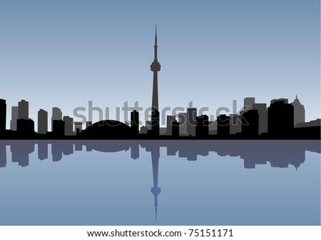 Toronto vector coastline - stock vector