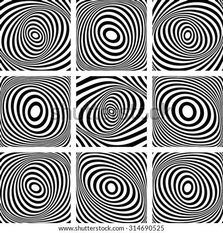 Torsion movement. Abstract illustrations set. Vector art. - stock vector