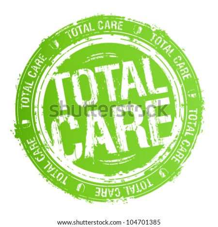 Total care rubber stamp. - stock vector