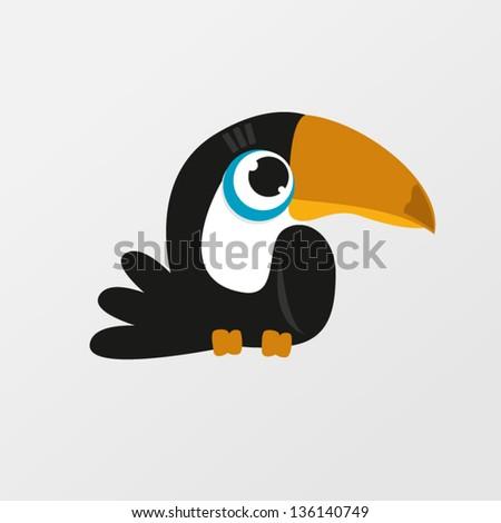 Toucan bird  - stock vector
