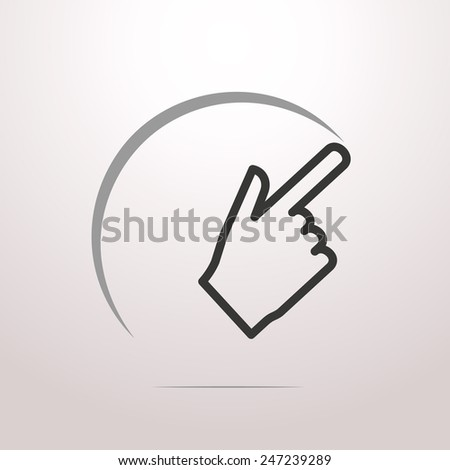 Touch icon - stock vector