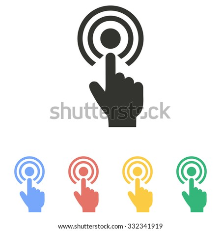 Touch icon on white background. Vector illustration. - stock vector