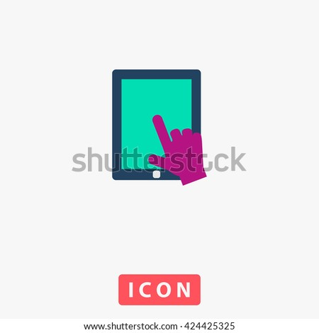 Touch Icon Vector.