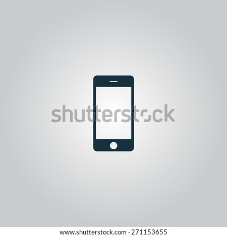 Touch phone. Flat web icon or sign isolated on grey background. Collection modern trend concept design style vector illustration symbol - stock vector