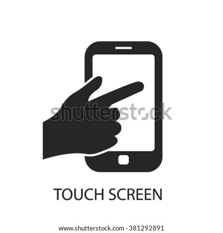 touch phone icon - stock vector