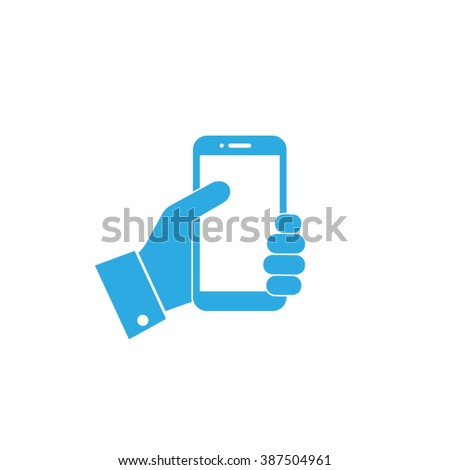 Touch phone icon vector illustration eps10. - stock vector