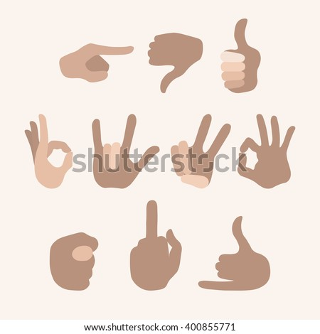 Touch screen hand gestures icons.
