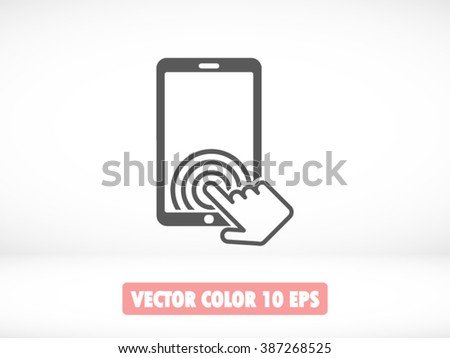 Touch screen hand icon, Touch screen hand icon eps 10, Touch screen hand icon vector, Touch screen hand icon illustration, Touch screen hand icon jpg, Touch screen hand icon picture - stock vector