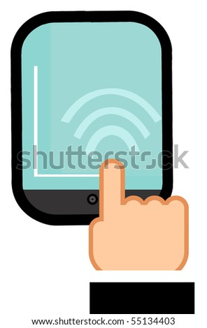 Touch Screen Pad - stock vector