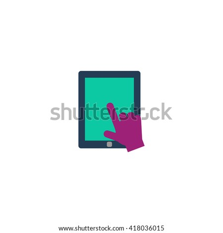 Touch screen Simple flat vector icon
