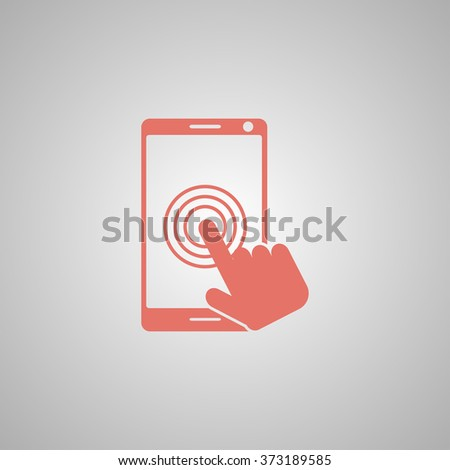 Touch screen smartphone icon. Flat design style  - stock vector