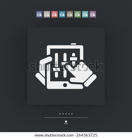 Touchscreen mixer icon - stock vector