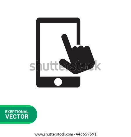 Touchscreen sign icon - stock vector