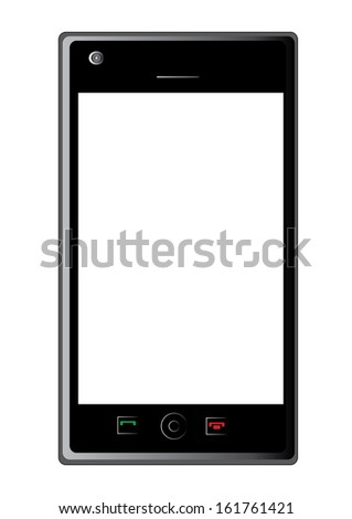 Touchscreen smartphone vector illustration icon object