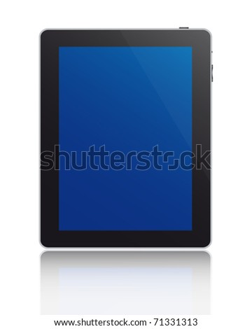 Touchscreen tablet - stock vector