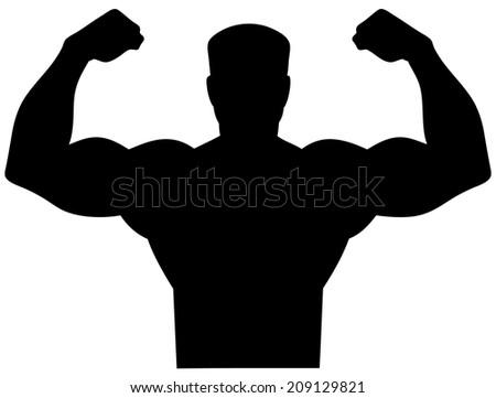 Tough Man Icon - stock vector